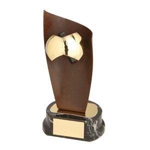 Trofeo hierro oxidado Balón Fútbol  varios tamaños.  Ref - BP1105