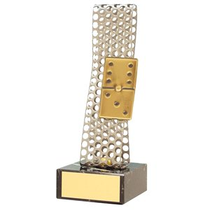 Trofeo domino varios tamaños.  Ref - BP119