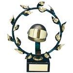 Trofeo laurel con casco  varios tamaños.  Ref - BP151