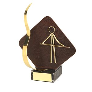 Trofeo hierro oxidado figura Billar  varios tamaños.  Ref - BP2207