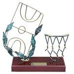 Trofeo canasta y pista de baloncesto  varios tamaños.  Ref - BP500