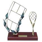 Trofeo raqueta y cancha de tenis  varios tamaños.  Ref - BP509