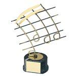 Trofeo pentagrama música  varios tamaños.  Ref - BP652