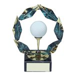 Trofeo pelota de golf  varios tamaños.  Ref - BP687
