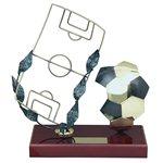 Trofeo pelota y campo Fútbol  varios tamaños.  Ref - BP696