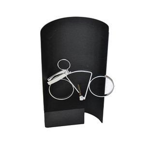 Trofeo hierro negro de ciclismo  varios tamaños.  Ref - BP9306