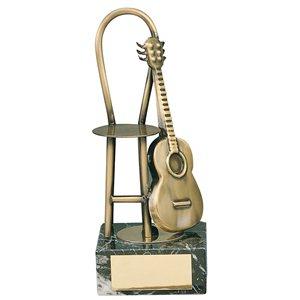 Trofeo música guitarra  varios tamaños.  Ref - BP956