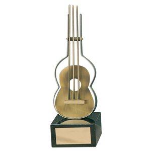 Trofeo música guitarra  varios tamaños.  Ref - BP957