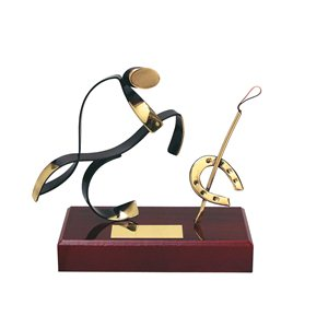 Figura de Latón Oro viejo Hípica BP300/1HI