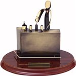 Oficio base madera  cm 17  Ref BP450/1Barman