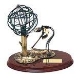 Trofeo de Oficio base madera  cm 17  Ref BP450/1 Labrador