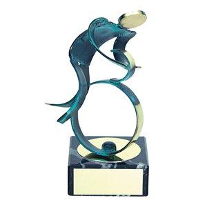 Trofeo Figura latón oxidado verde cm 18 Ciclismo varios tamaños.  Ref - BP600/1CI