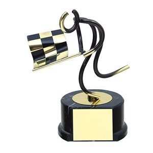 Trofeo deportivo figura latón cm 17 Auto Ref BP700/1AU