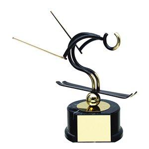 Trofeo deportivo figura latón cm 17 Esquí Ref BP700/1EQ